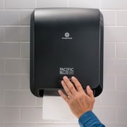 "Pacific Blue Ultra™ Automated Paper Towel Dispenser by GP PRO, Black, 12.90"" W x 9.00"" D x 16.00"" H (59590)"