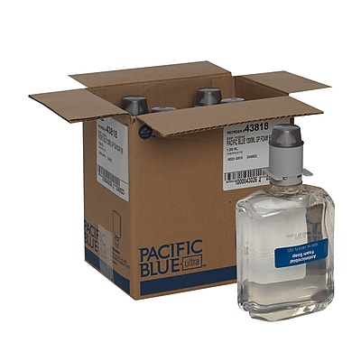 Pacific Blue Ultra™ Gentle Foam Hand Soap Refill by GP PRO, Antimicrobial and Fragrance-Free, 1200 mL, Pack of 4 (43818)