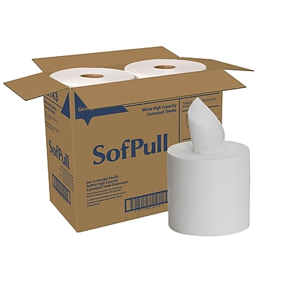 SofPull® Centerpull High Capacity Paper Towel by GP PRO, 1-Ply, White, 560 Sheets Per Roll, 4 Rolls Per Carton (28143)