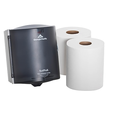 SofPull® Centerpull Regular Capacity Paper Towel Dispenser Trial Kit by GP PRO, [Contains SKUs 58204 and 28124], (58205)