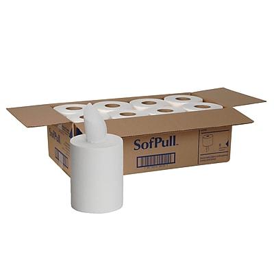 SofPull® Premium 1-Ply Junior Capacity Centerpull Towels, 1 Ply, 8 Rolls/ CT, 275 Count per roll, White, 7.80 W X 12.0