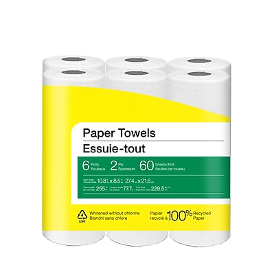 Paper Towel, 6 Rolls/Pack