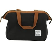 "Hilroy Heritage Lunch Bag, 9"" x 9"" x 8-1/2"", Black/Tan (50420)"