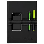 "Cambridge Limited Tech Bungee Notebook, 80 Sheets, 8-3/4"" x 6-1/8"", Black (59096)"
