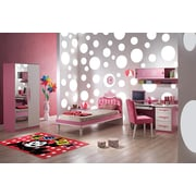 Felix Dots Red, Multi-Colour, Machine Made Rug, FEL-22 1929