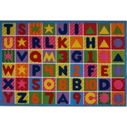 Numbers & Letters, Multi-Colour, Machine Made Rug, FT2011P 0811