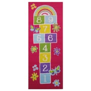 Garden Hopscotch, Multi-Colour, Machine Made Rug, FT50 1929