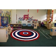"Concentric 2, Machine Made, 51"" Round Rug, FTS150 51RD"