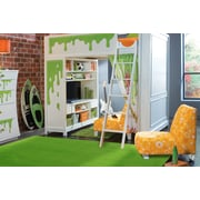 La Kids Green, Machine Made Rug, KD71 3958