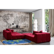World Map, Multi-Colour, Machine Made, Hand Carved Rug, TSC153 3147