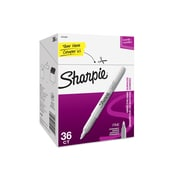 Sharpie Permanent Markers, Fine Point, Metallic Silver, 36/Pack (2003899)