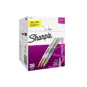 Sharpie Permanent Markers, Fine Point, Assorted Metallic Colors, 36/Pack (2003900)