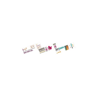 photograph about Printable Tickets With Tear Away Stubs identify Avery® Printable Tickets with Tear-Absent Stubs, Matte White, 200/Pack (AVE16154)