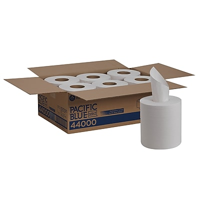 Pacific Blue Select™ Centerpull Paper Towel by GP PRO, 2-Ply, White, 520 Sheets/Roll, 6 Rolls/Carton (44000)