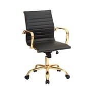 Plata Import Toni Low Back Gold Office Chair