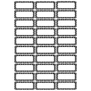 Ashley Magnetic Small Nameplates, Black and White Dots, 30/Pack (ASH10080)