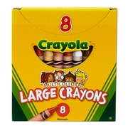Crayola® Multicultural Crayons, Large Size, 8/Pack (BIN080W)