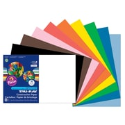 """Pacon Tru-Ray Construction Paper, 12"""" x 18"""", Assorted Colours, 50 Sheets/Pack (PAC103063)"""