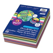 """Pacon® SunWorks® Construction Paper Smart-Stack™, 9""""x 12"""", Assorted Colour, 300 Sheets/Pack (PAC6525)"""