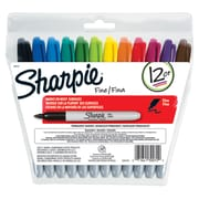 Sharpie® Fine Felt Tip Markers, 12-Color Set (SAN30072)