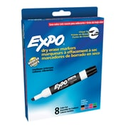 Expo® Low Odor Chisel Tip, Dry Erase Assorted Colors, 8/pkg (SAN80078)