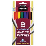 Sargent Art® Washable Felt Super Tip Markers, Fine Tip, 8/Pack (SAR221560)