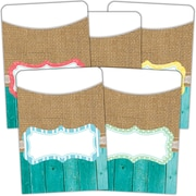 Teacher Created Resources Shabby Chic Library Pockets Multi-Pack, 35/Pack (TCR77178)