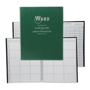WARD Class Record Book, 9-10 Week Grading Periods and 6 Period Lesson Plan Books, 2/Pack (WAR91016)