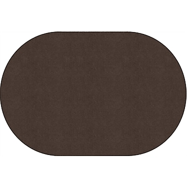 Flagship Carpets Americolours Oval Rug, Chocolate, 4' x 6' (AS-23CH)