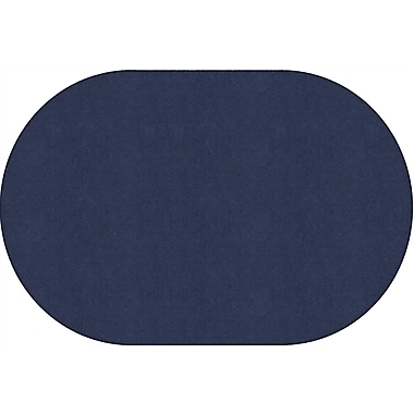Flagship Carpets Americolours Oval Rug, Navy, 4' x 6' (AS-23NY)
