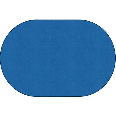 Flagship Carpets Americolours Oval Rug, Royal Blue, 4' x 6' (AS-23RB)