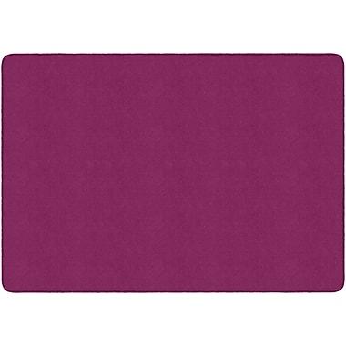 Flagship Carpets Americolours Rectangle Rug, Cranberry, 6' x 9' (AS-34CB)