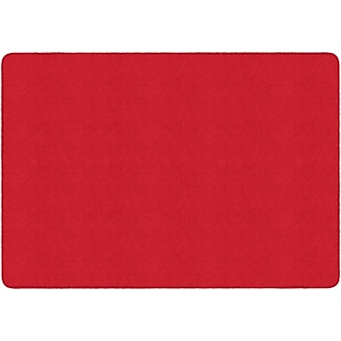 Flagship Carpets Americolours Rectangle Rug, Rowdy Red, 6' x 9' (AS-34RR)