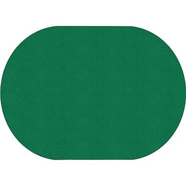 Flagship Carpets Americolours Oval Rug, Clover Green, 6' x 9' (AS-35CG)