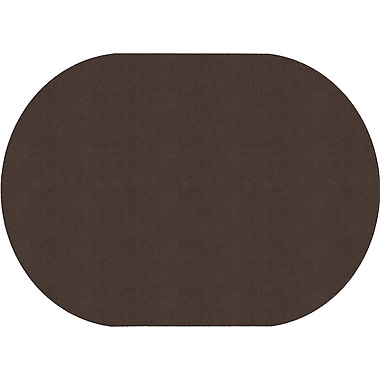 Flagship Carpets Americolours Oval Rug, Chocolate, 6' x 9' (AS-35CH)