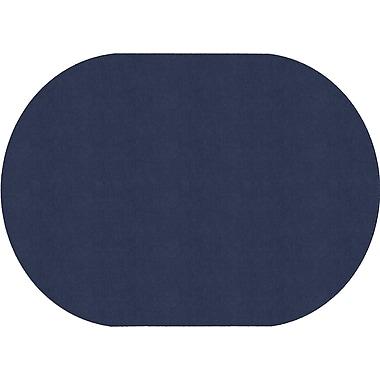 Flagship Carpets Americolours Oval Rug, Navy, 6' x 9' (AS-35NY)