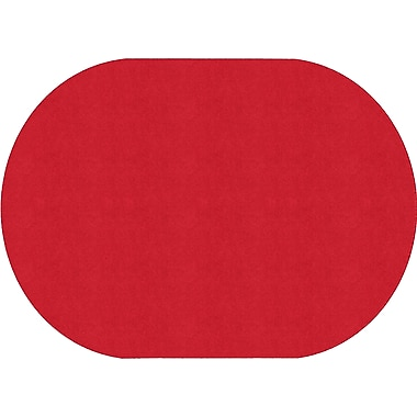 Flagship Carpets Americolours Oval Rug, Rowdy Red, 6' x 9' (AS-35RR)