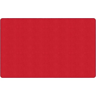 Flagship Carpets Americolours Rectangle Rug, Rowdy Red, 7.6' x 12' (AS-44RR)