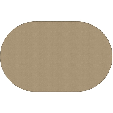 Flagship Carpets Americolours Oval Rug, Almond, 7.6' x 12' (AS-45AL)