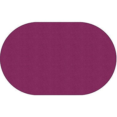 Flagship Carpets Americolours Oval Rug, Cranberry, 7.6' x 12' (AS-45CB)