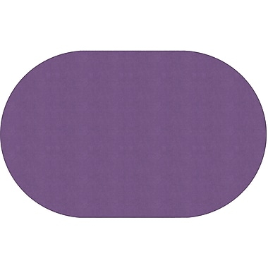 Flagship Carpets Americolours Oval Rug, Pretty Purple, 7.6' x 12' (AS-45PP)