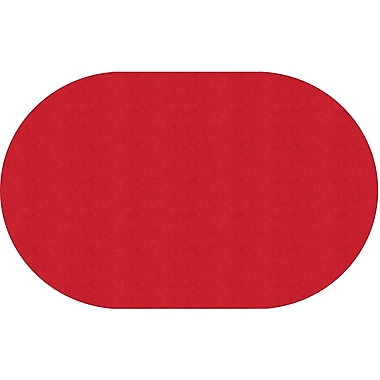 Flagship Carpets Americolours Oval Rug, Rowdy Red, 7.6' x 12' (AS-45RR)