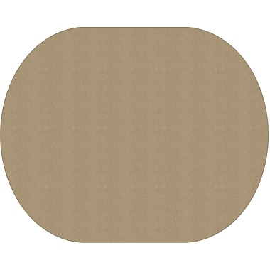 Flagship Carpets Americolours Oval Rug, Almond, 12' x 15' (AS-77AL)
