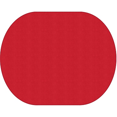 Flagship Carpets Americolours Oval Rug, Rowdy Red, 12' x 15' (AS-77RR)