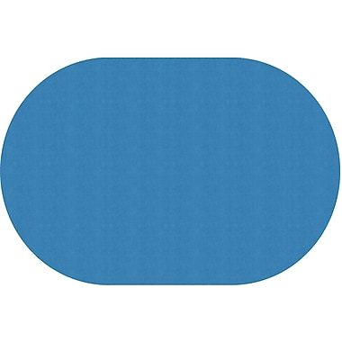 Flagship Carpets Americolours Oval Rug, Blue Bird, 12' x 18' (AS-81BB)