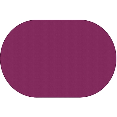 Flagship Carpets Americolours Oval Rug, Cranberry, 12' x 18' (AS-81CB)