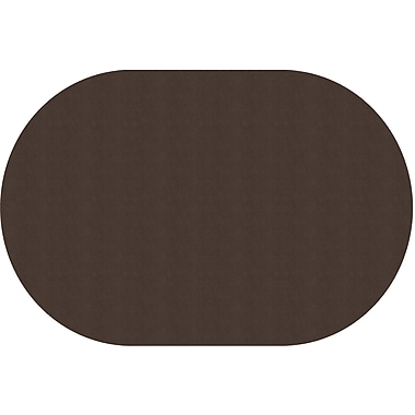 Flagship Carpets Americolours Oval Rug, Chocolate, 12' x 18' (AS-81CH)