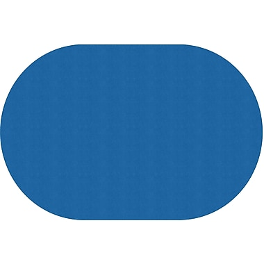 Flagship Carpets Americolours Oval Rug, Royal Blue, 12' x 18' (AS-81RB)