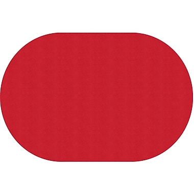 Flagship Carpets Americolours Oval Rug, Rowdy Red, 12' x 18' (AS-81RR)