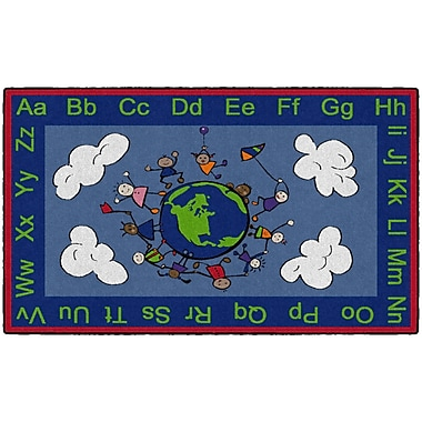 Flagship Carpets Happy World Rug, 3' x 5' (CE189-16W)